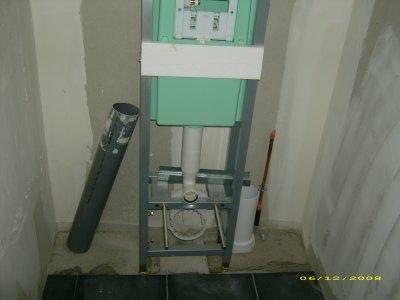 J 290 le wc suspendu construction de notre maison - Pose d un wc suspendu ...