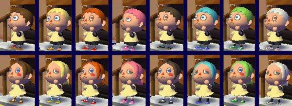 Hairstyles Animal Crossing City Folk : porter le tien dye mauve et monture ( ou casquette ) mauve pour ...